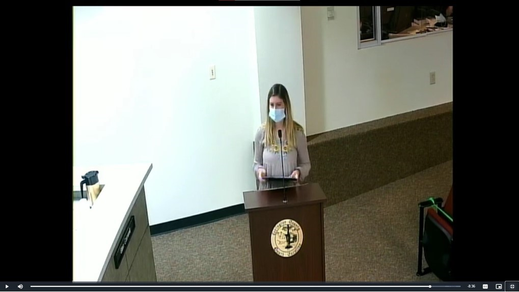 Casey Boyer- Online livestream of my oral testimony on the Lexington County nuisance cat ordinance