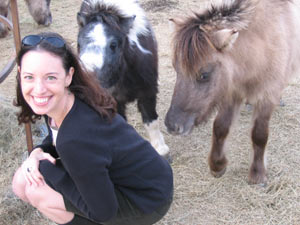 Melanie Lary n TX with a few of her mom's miniature horses